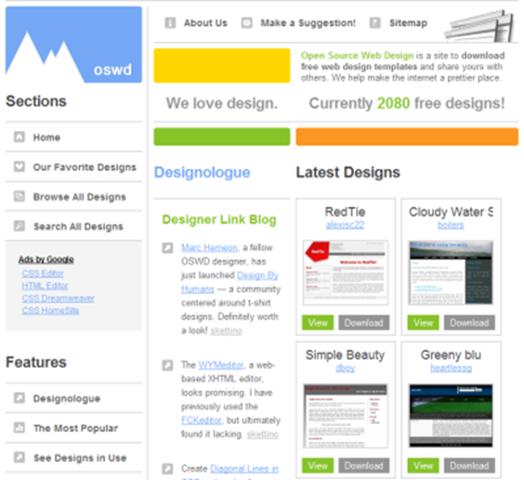 free css based website templates jonathan 39 s blog. Black Bedroom Furniture Sets. Home Design Ideas